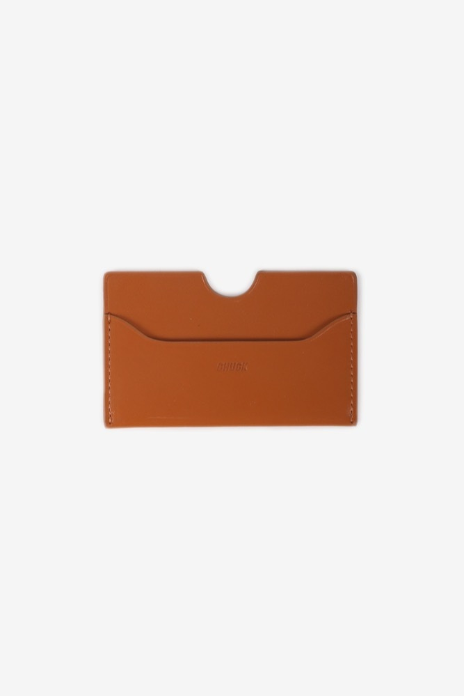 CHUCK LEATHER CARD WALLET (BROWN)