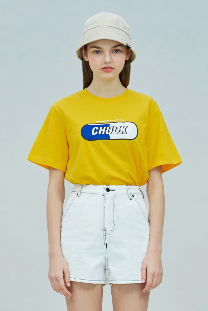 19 SUMMER CHUCK SIGNATURE LOGO T-SHIRT (YELLOW)