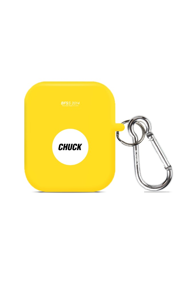CHUCK CIRCLE LOGO AIRPODS CASE (YELLOW)