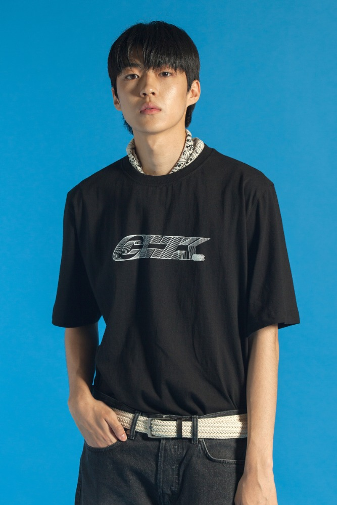 19 SUMMER CHK LOGO T-SHIRT (BLACK)