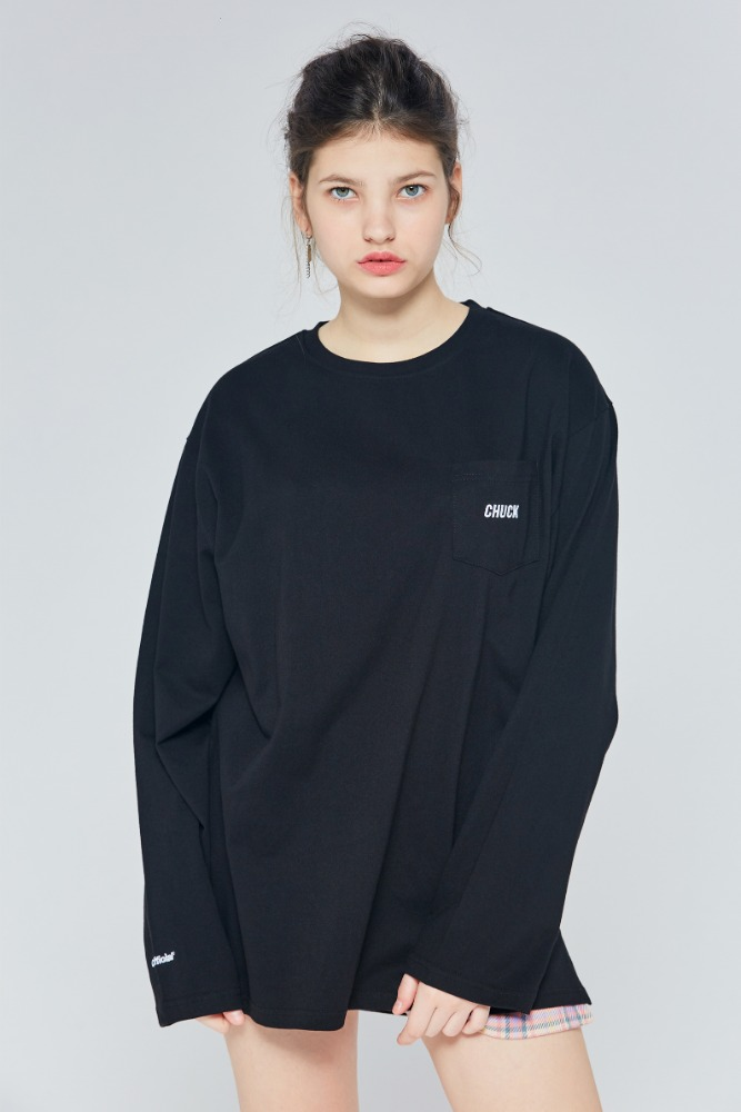 19FW CHUCK POCKET L-S T (BLACK)